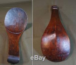 Rare Large Native American Atikamekw Algonquin Feast Wooden Ladle Spoon Ca. 1925