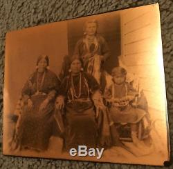 Rare Nez Perce Antique Colville Photo Plate Native American Copper Indian War