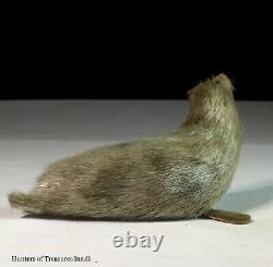 Rare Old Antique Inuit Eskimo Indian Fur Seal Doll Figure Artic Natives