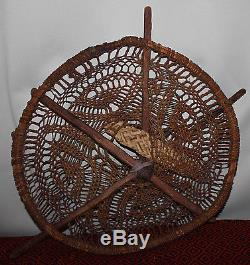 Rare Old Kiaha Pima Papago O'odham Burden Basket