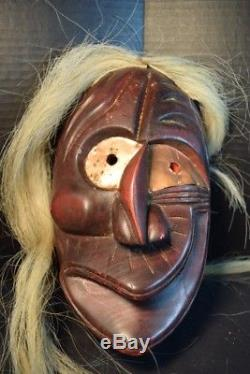 Red Face Iroquois False Face Society Wooden Mask