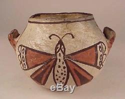 SM. ZUNI FROG & BUTTERFLY POTTERY JAR, c. 1910-20