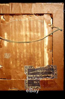 Signal Fire To The Mountain God Signed Edward Curtis Goldtone Orotone