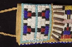 Sioux Lakota knife and sheath late 19th C