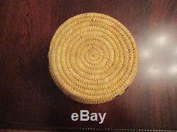 Superb Tohono Odham / Papago Basket with Circle of Figures Motif