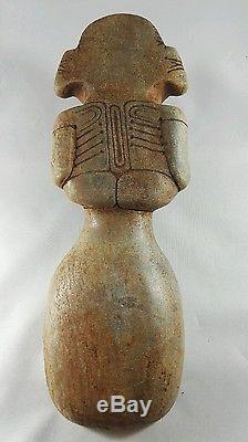 Taino Stone Cohoba Plate From Dominican Republic