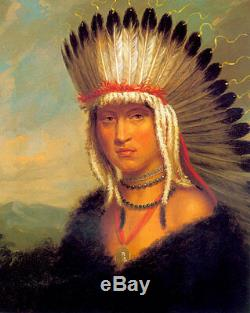 The Pawnee Brave 30x44 George Catlin Native American Indian Art