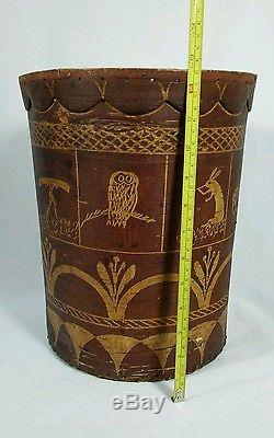 Tomah Joseph Birchbark Basket Native American Indian Passamaquoddy Antique 1902
