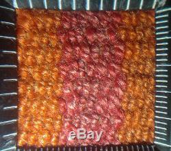 UNUSUAL 100-YEARS + AYMARA INDIAN WEARING BLANKET Supple Handspun Wool TM12845