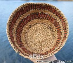 Very Fine Large Old Northwest Coast Salish Skokomish Quinault Basket Circa 1900