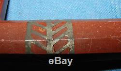Very Rare Original American Indian Catlinite Pipestone Pipe With Inlay