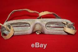 VINTAGE Eskimo Inuit Snow Goggles