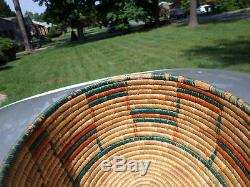 Vintage Native American Basket With Great LID And Nice Spiral Construction