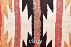 VINTAGE Navajo Rug Native American Indian Weaving Textile 37x20 ANTIQUE