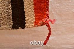 VINTAGE Navajo Rug Native American Indian Weaving Textile 53x32 ANTIQUE