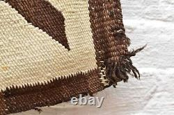 VINTAGE Navajo Rug Native American Indian Weaving Textile 67x34 ANTIQUE LARGE
