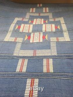 VTG Navajo Native American Indian textile bed blanket rug throw wall hanging