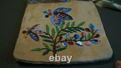 Very Fine Late 1800 Native American Plains 2 Sided Beaded Bag Pouch