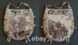 Very Fine Late 19th Century Native American Alaska Tlingit 2 Sided Beaded Bag