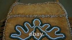 Very Unique 1920 30's Native American Plains Beaded Wall Pocket