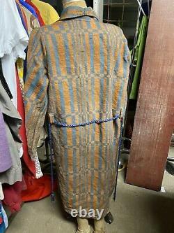 Vintage 1920's Beacon Blanket Camp Robe Art Deco Native American Nightwear