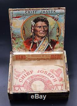 Vintage Antique Rare Native Chief Cigar Box 1901