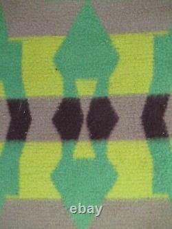 Vintage BEACON Cotton Camp Blanket, Native-American Design, Arrow Pattern Good