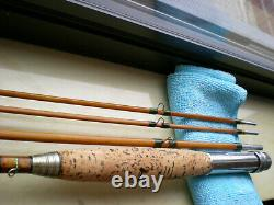 Vintage Bamboo Fly Rod. Native American Markings. 9' 6.3oz. 3/2 4wt. Agate Stripper