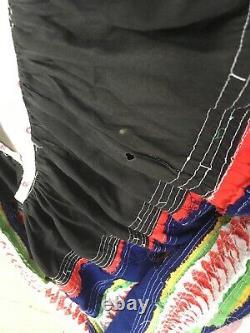 Vintage Large Native American Seminole Indian Skirt Navy Blue Museum