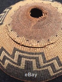 Vintage Native American Basket WithLid