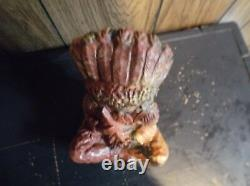 Vintage Native American Indian Chief statue M Swirl Layered Clay Resin 8lbs