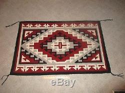 Vintage Native American Indian Navajo Ganado Rug Saddle Blanket 46.25 x 29.5