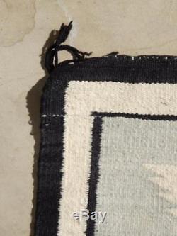 Vintage Navajo Indian Ganado Trading Post Area Rug / Weaving Clean + Nice