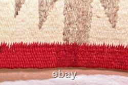 Vintage Navajo Rug Native American Indian Weaving Textile 37x20 Antique Dazzler
