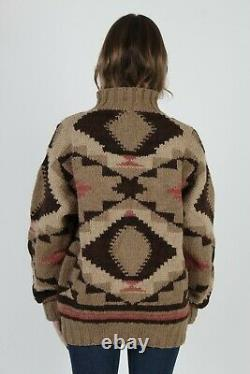 Vintage POLO Country Ralph Lauren Southwestern Native American Knit Wool Sweater