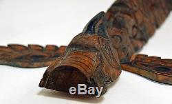 Vintage Pacific Northwest Coast Model Totem Pole Probably Kwakiutl Or Tlingit