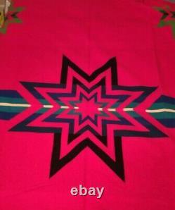 Vintage Pendleton Beaver State Sioux Star Wool Blanket Native American