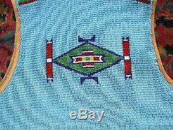 Vintage Sioux Boys Beaded Vest and Trousers