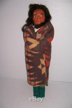 Vintage Skookum Native American Indian Man Doll 14