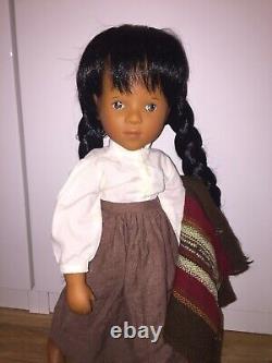 Vintage doll 1992 sylvia natterer fanouche doll german doll native american doll