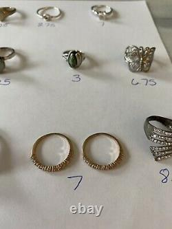 VintageNow Sterling Silver 925 Jewelry Ring Lot Native American Butterfly Snake