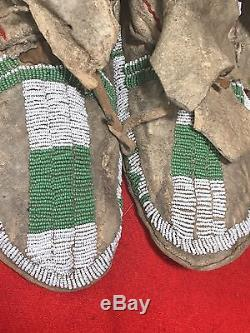 Wonderful Antique Southern Ute Moccasins